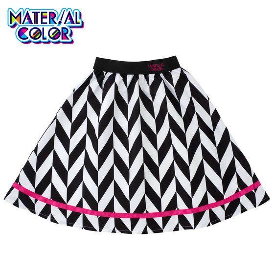 アイカツ!スタイル マテリアルカラー ジオメトリックカラースカート