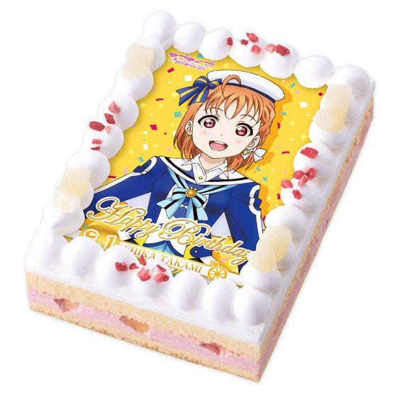 [キャラデコプリントケーキ] ラブライブ!サンシャイン!! 高海千歌(誕生日ver.)