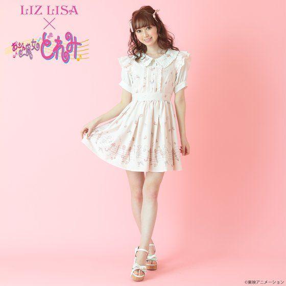 《LIZ LISA×おジャ魔女どれみ コラボ》 ポロン柄ジャンスカ