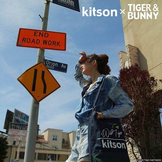 kitson × TIGER & BUNNY 2Wayショルダートート&ミニポーチ ※オリジナルハンカチ付き【2018年9月発送予定】 アニメ・キャラクターグッズ新作情報・予約開始速報