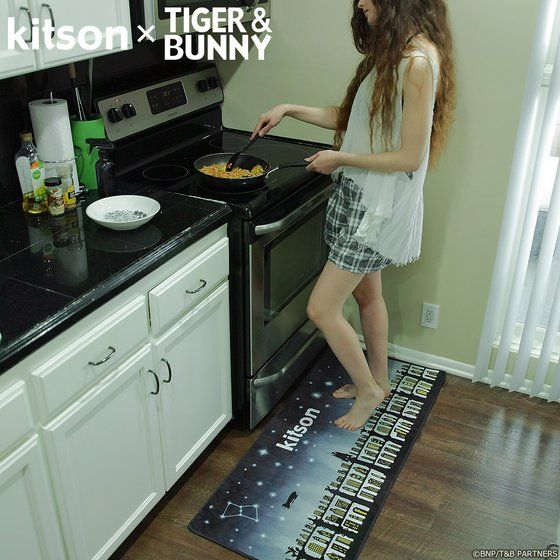 kitson × TIGER & BUNNY ラグマット ※オリジナルハンカチ付き アニメ・キャラクターグッズ新作情報・予約開始速報