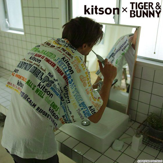 kitson × TIGER & BUNNY バスタオル ※オリジナルハンカチ付き アニメ・キャラクターグッズ新作情報・予約開始速報