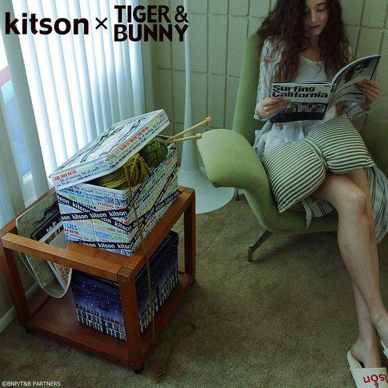 kitson × TIGER & BUNNY ストレージボックス ※オリジナルハンカチ付き アニメ・キャラクターグッズ新作情報・予約開始速報