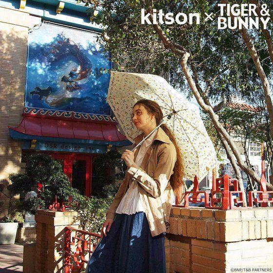 kitson × TIGER & BUNNY 晴雨兼用 折りたたみ傘 ※オリジナルハンカチ付き アニメ・キャラクターグッズ新作情報・予約開始速報
