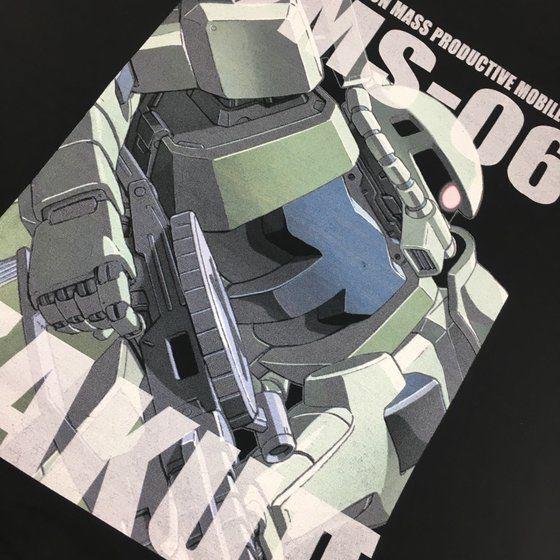 機動戦士ガンダム フルカラー Tシャツ MS-06 量産型ザク