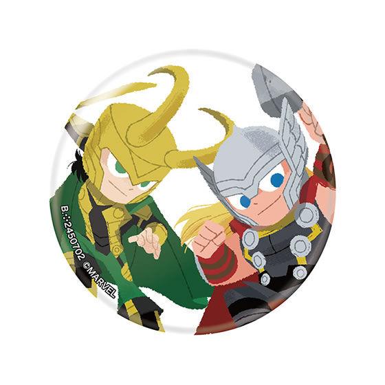 MARVEL カプセル缶バッジ Illustrated by GuRiHiRu