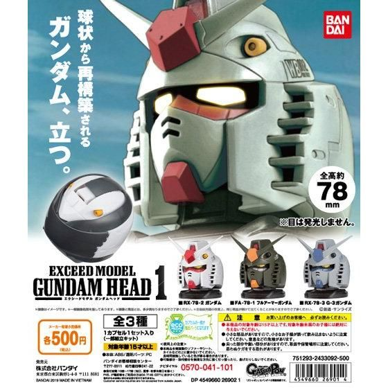 機動戦士ガンダム EXCEED MODEL GUNDAM HEAD 1