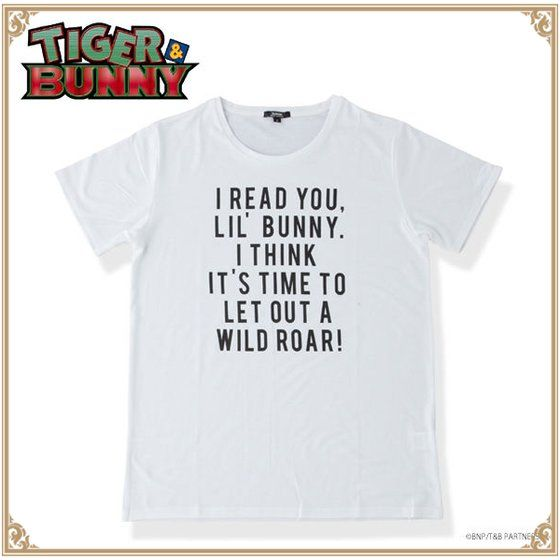 TIGER & BUNNY ロゴTシャツ 虎徹 IT'S TIME アニメ・キャラクターグッズ新作情報・予約開始速報
