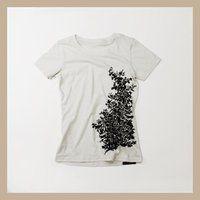 C&YSUN&C&LEMOON  Foliage printTシャツ   (フォリッジ )