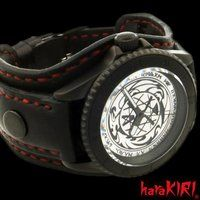 ���ʃ��C�_�[�E�B�U�[�h x haraKIRI Collaboration Wristwatch
