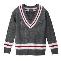 ライン入りセーター