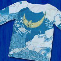 仮面ライダー鎧武 TEAM GAIM(チーム鎧武) 武将 長袖Tシャツ ライトブルー(チャッキー)