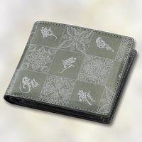 衝撃ゴウライガン 本革二つ折り財布 総柄デザイン