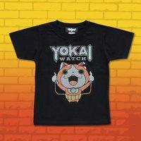 妖怪ウォッチ 親子Tシャツ KIDSサイズ ジバニャン ブラック