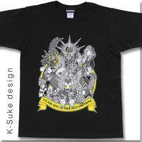 K-Suke Design Tee 獣電戦隊キョウリュウジャー デーボス軍GIVE US EMOTIONS Tシャツ