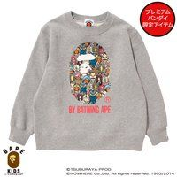 【A BATHING APE×ウルトラマンシリーズコラボ】 ULTRAMONSTERS BY BATHING APE CREW NECK  KIDS