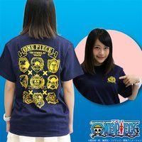 ワンピース 麦わらの海賊団海賊旗Tシャツ 紺
