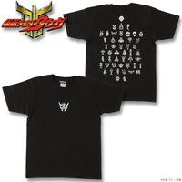 仮面ライダークウガ グロンギTシャツ 黒(プリント色 白)