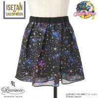 【Riccimie PREMIERE SALONコラボ】美少女戦士セーラームーン  コズミックプリントフレアーキュロットスカート