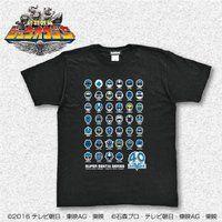 スーパー戦隊シリーズ40作品記念 歴代ブルー フェイスTシャツ 大きいサイズ(XXL・XXXL)