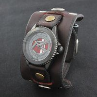 ���ʃ��C�_�[�n�[�g �~ Red Monkey Designs Collaboration Wristwatch Silver925 High-End Model