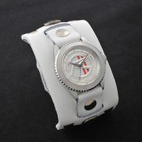 ���ʃ��C�_�[�}�b�n�~ Red Monkey Designs Collaboration Wristwatch Silver925 High-End Model