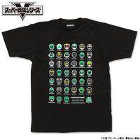スーパー戦隊シリーズ40作品記念 歴代グリーン&ブラック フェイスTシャツ