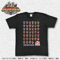 スーパー戦隊シリーズ40作品記念 歴代レッド フェイスTシャツ 大きいサイズ(XXL・XXXL)
