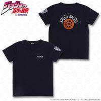 ジョジョの奇妙な冒険 スピードワゴン財団 Tシャツ ネイビー