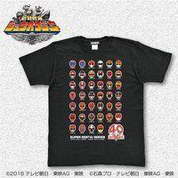 スーパー戦隊シリーズ40作品記念 歴代レッド フェイスTシャツ(S〜XXXL)