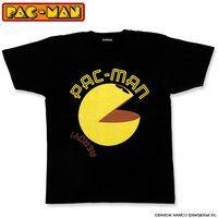 パックマン 大人用Tシャツ パックマン柄(ブラック)