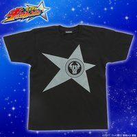 宇宙戦隊キュウレンジャー 「オウシブラック」なりきり風デザインTシャツ