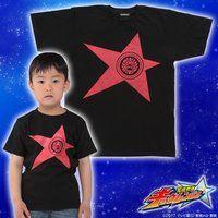宇宙戦隊キュウレンジャー 「シシレッド」なりきり風デザインTシャツ こども用