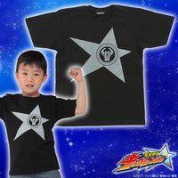 宇宙戦隊キュウレンジャー 「オウシブラック」なりきり風デザインTシャツ こども用