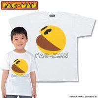 パックマン パックマン柄(ホワイト)Tシャツ こども用