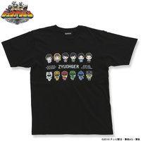 動物戦隊ジュウオウジャー ドットビットTシャツ 黒