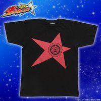 宇宙戦隊キュウレンジャー 「シシレッド」なりきり風デザインTシャツ【2次受注】