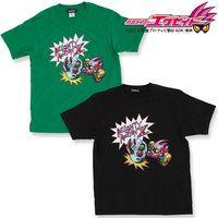 仮面ライダーエグゼイド マイティアクションX Tシャツ(ブラック/グリーン)