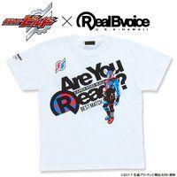 仮面ライダービルド×RealBvoice Best Match柄Tシャツ (白)