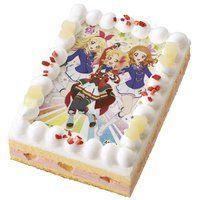 [キャラデコプリントケーキ] アイカツ!5周年記念ケーキ