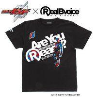仮面ライダービルド×RealBvoice Best Match柄Tシャツ (黒)