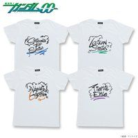 機動戦士ガンダム00 グラフィックデザイン レディースTシャツ