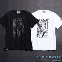 ソードアート・オンライン×墨絵師「御歌頭」×HTML ZERO3 Black Blast S/S Tee (Tシャツ アスナ)