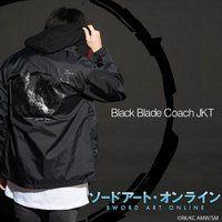 ソードアート・オンライン×墨絵師「御歌頭」×HTML ZERO3  Black Blast Coach JKT(コーチジャケット)