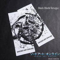 ソードアート・オンライン×墨絵師「御歌頭」×HTML ZERO3   Black Blast 手拭い
