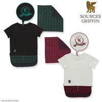 劇場版 TIGER & BUNNY -The Rising- スカーフ付きレイヤードTシャツ 【SOURCES GRIFFIN】