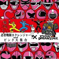 パンクドランカーズ×スーパー戦隊シリーズ  ピンク大集合Tシャツ