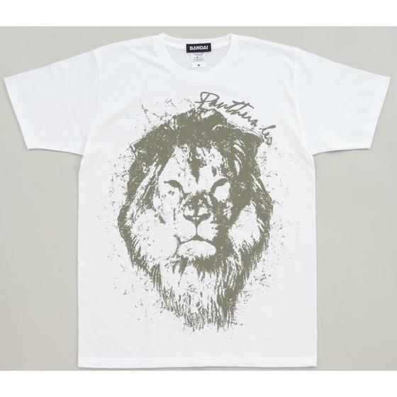 白地にグレーのライオン