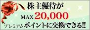 株主優待がMAX20,000プレミアムポイントに交換できる!!