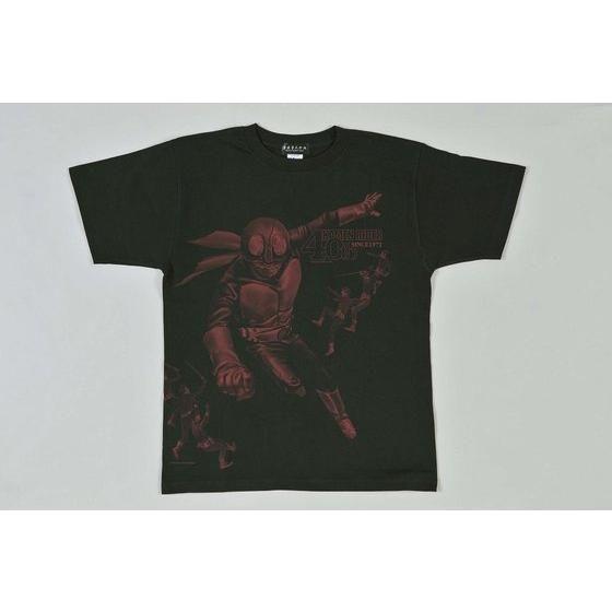 菅原芳人計画 仮面ライダー40周年記念 仮面ライダー旧1号VSショッカー戦闘員 Tシャツ